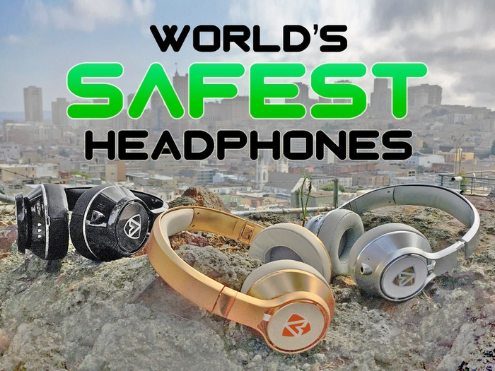 """Meet AEGIS PRO, the WORLD'S SAFEST HEADPHONES. Protect yourself and those you love from noise-induced hearing loss! PRE-ORDER NOW! Click on the """"Follow along!"""" link below."""