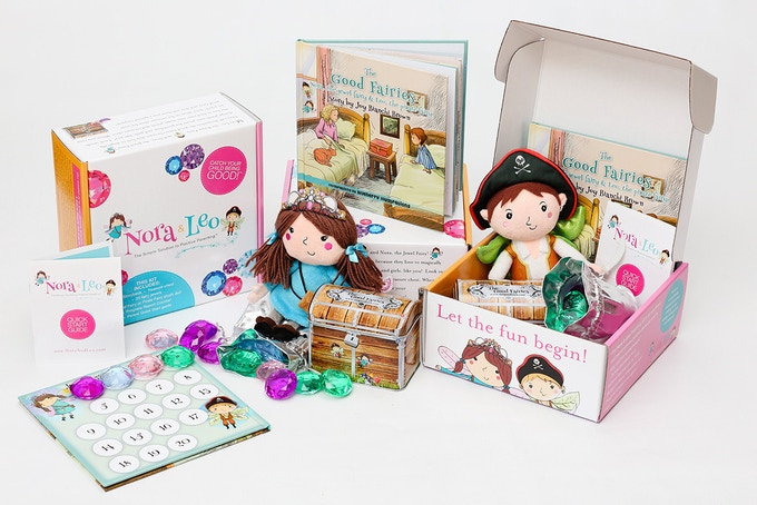 Nora & Leo arrive addressed to your child in whimsical packaging