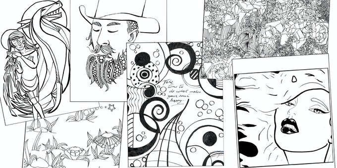 Even more beautiful images from our colouring book