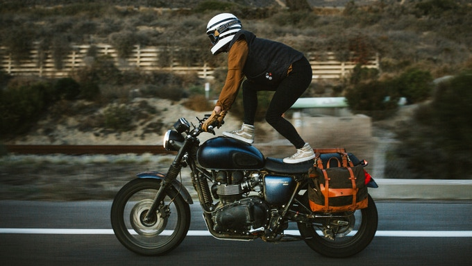 motorcycle saddlebags and tool rolls by pack animal kickstarter