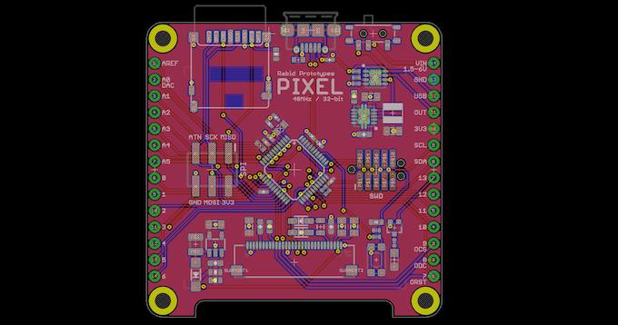Pixel PCB layout