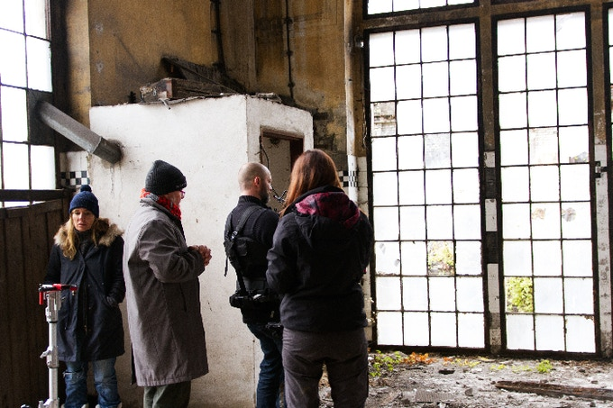 Filming at the František Josef Factory, Outskirts of Prague
