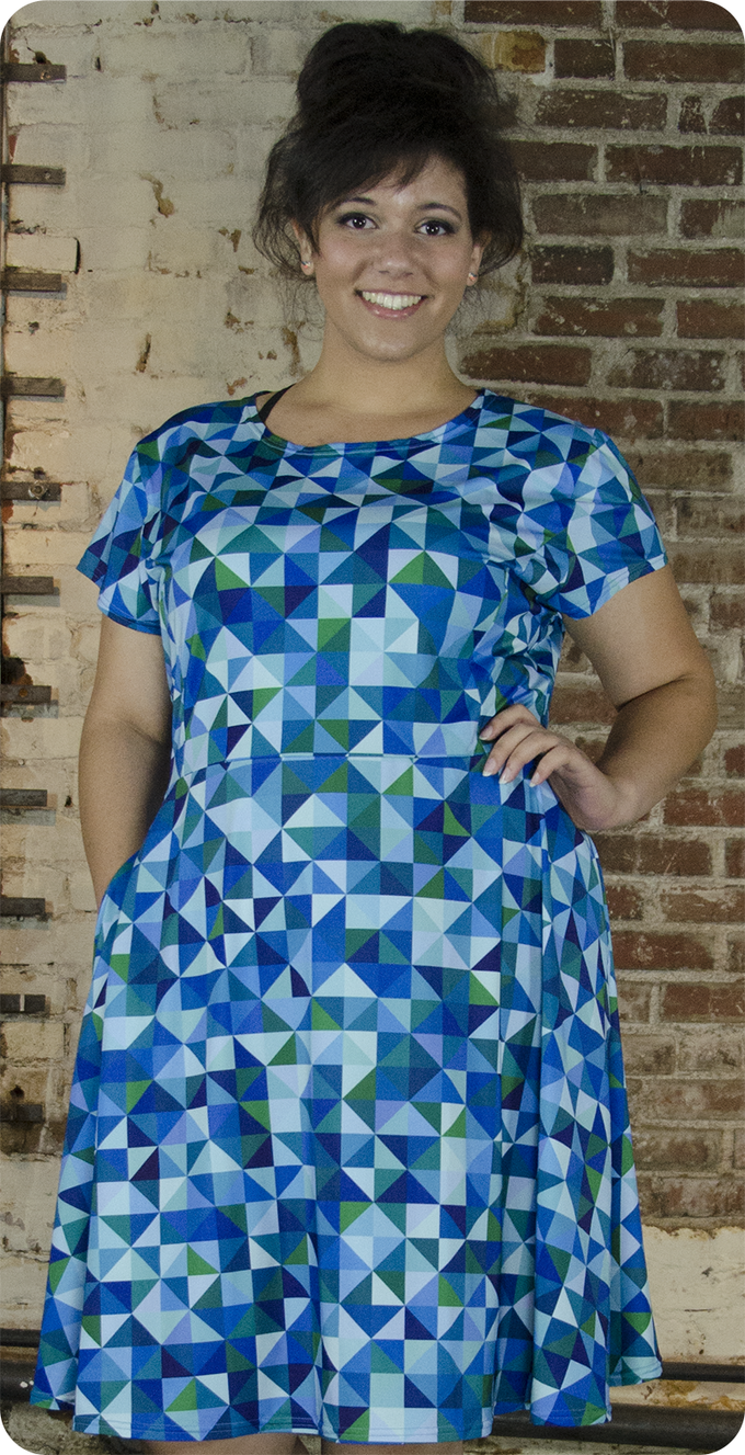 Your Favorite Dress in blue/green (cap sleeve)