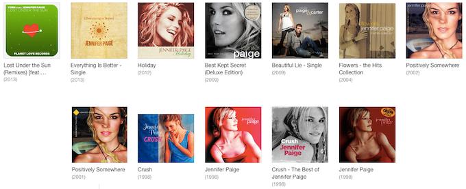 Jennifer Paige Discography