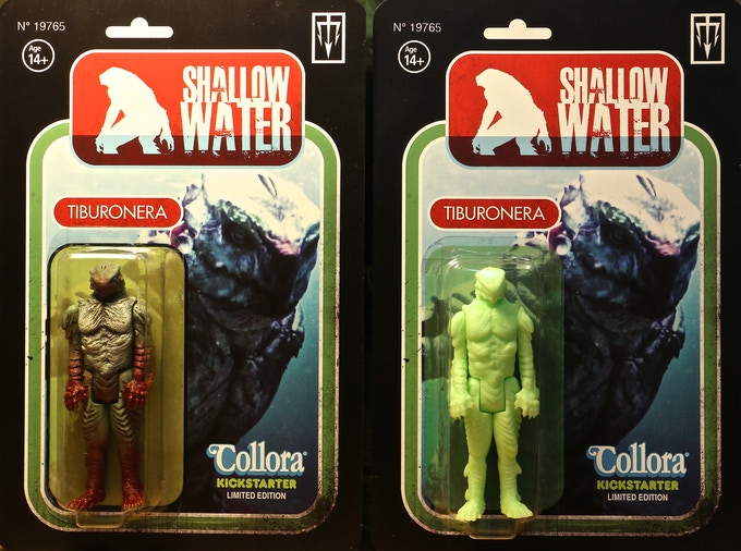 Prototypes of the two different carded versions.