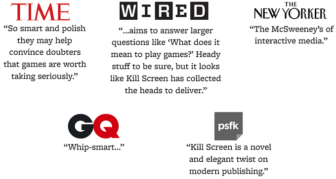 Help Kill Screen Reinvent Their Magazine by Kill Screen — Kickstarter