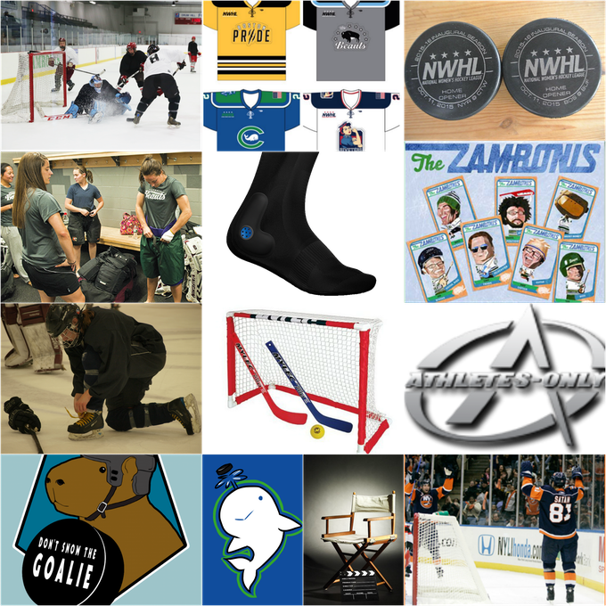 Photo credits, Top Row, L-R: George Spiers, NWHL. 2nd Row: Springville Journal, Stable 26, The Zambonis. 3rd Row: Kate Cimini. 4th Row: DSTG, ninjaomelet, Indiewire.com, NHL.