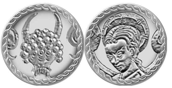 Aquelarre silver coin (mock-up).