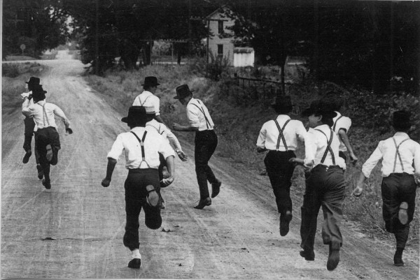 """Amish Boys Running"""" was selected by Life Magazine in October 1969."""