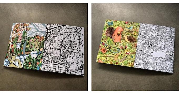 Example pages by Ignacia Ruiz and Sophie Corrigan