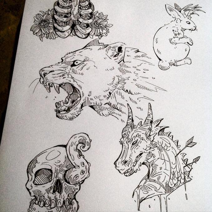 More spot illustrations