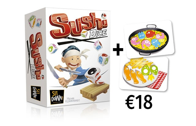 Sushi Dice, a frenetic atmospheric game.