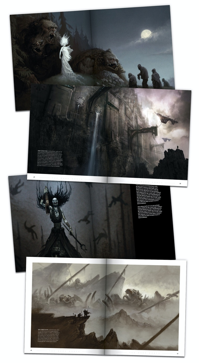 "Spreads from ""The Dark North - Volume 1"""