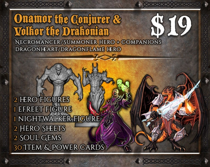 This Expansion set is not a part of the Kickstarter Edition of the game, and may be added optionally. Note: The pose of the figures will be different from the Demonologist/Drakonian Enemy figures. Click on the banner for additional information.