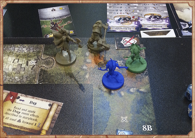 Preview of the Sword & Sorcery prototype during the Essen Game Fair