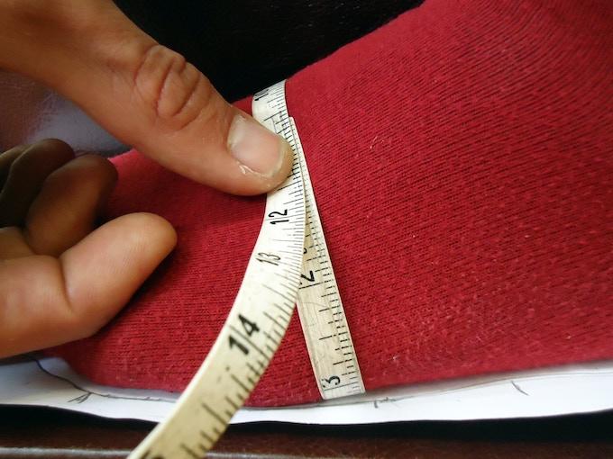 Measuring the feet