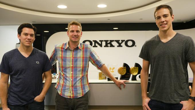 Left to right: Navi (Revols), Jason (Onkyo), Daniel (Revols)