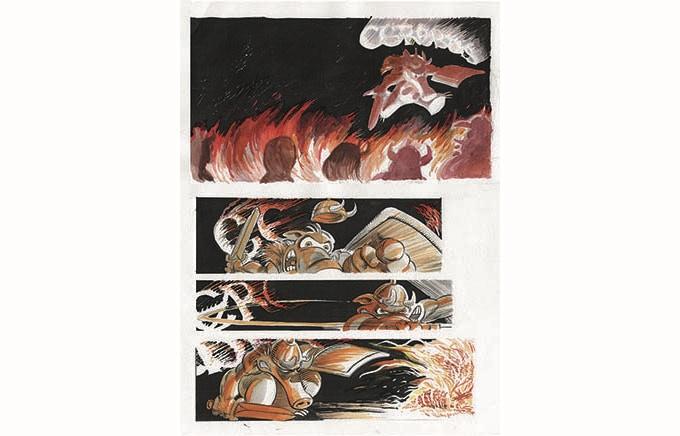 BP 37 - Cerebus No 1 The Eccentric Cover Recreation with Gerhard