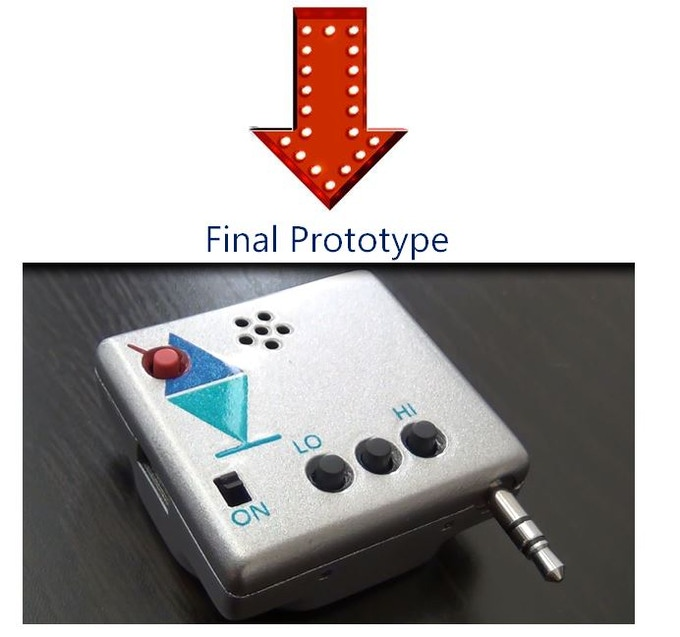 Prototype with 3D-printed enclosure