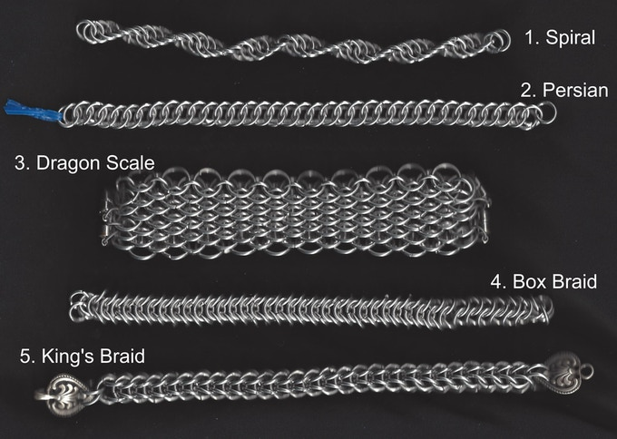 Chainmail Bracelets Exotic Weaves