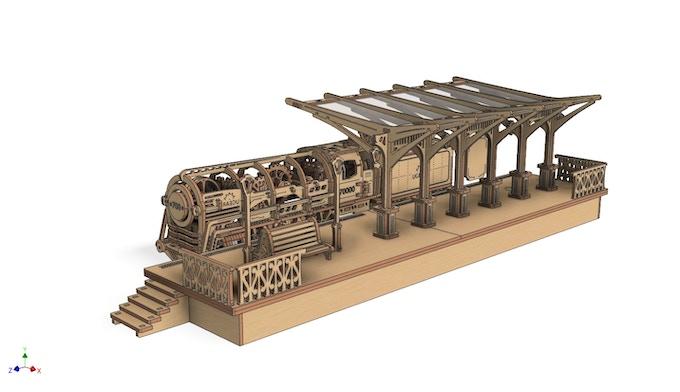 Railway platform (prototype)