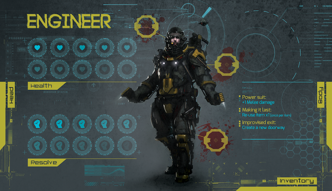The Engineer's character dashboard