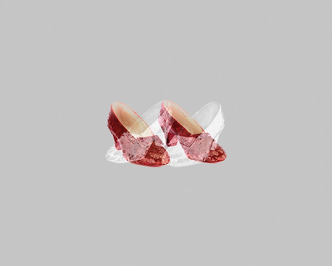Ruby Slippers / Silver Shoes, 2012. Pigmented inkjet print. Image courtesy of Matthew Gamber