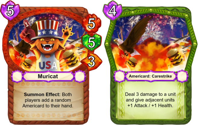 This exclusive card is given to all backers of the MURICAT pledge level. Murica!