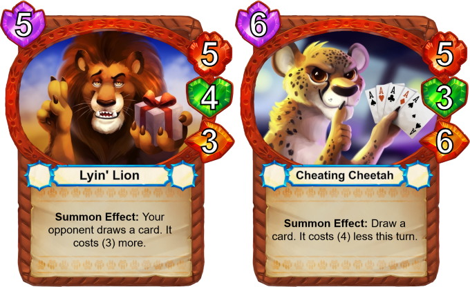 Wait a minute... Is this Lyin' Lion a good deal? We're not even sure ourselves! --- Cheating is okay if it's done by a cheetah.