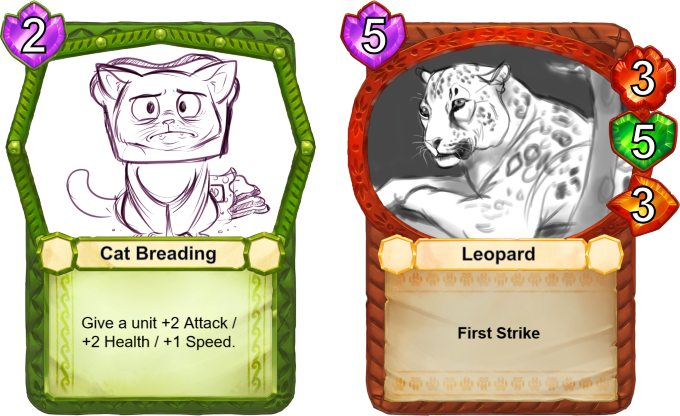 Some units scale incredibly well with increased stats, such as the Leopard. First Strike means that unit doesn't take retaliation damage when it kills a unit with an attack.