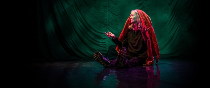 Sara Shelton Mann in Sara (the smuggler). Photo by Robbie Sweeny.