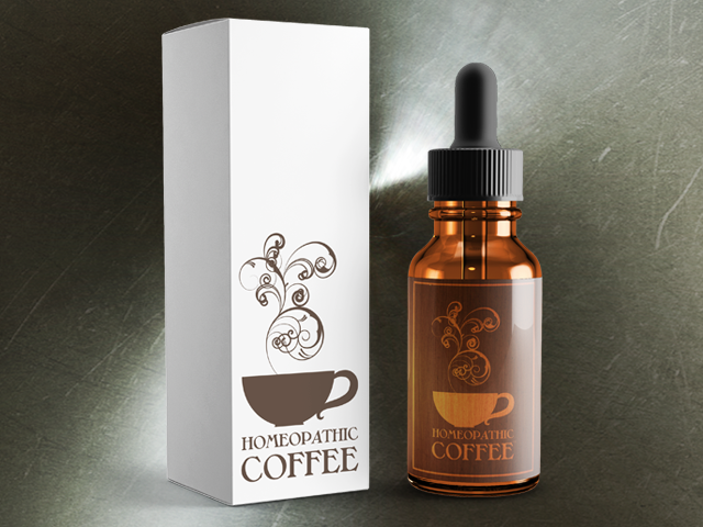 Our 2 oz. bottles of Homeopathic Coffee™