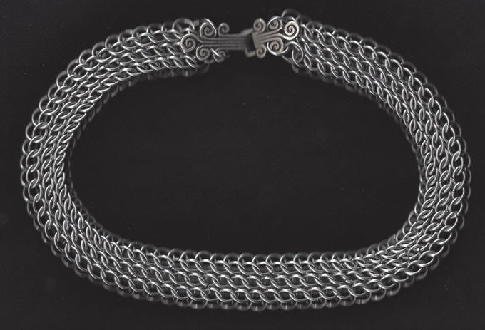 Chainmail Necklace Persian Weave