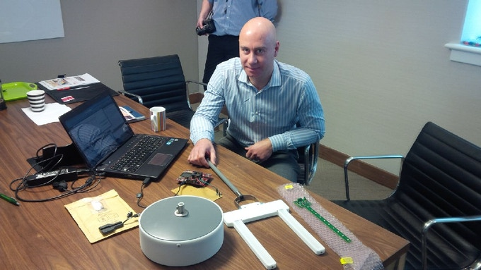 SleepCogni's Lee Ironmonger, Electronics & Software Developer, working on the first prototype.