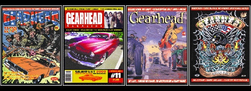 Various back issues of Gearhead Magazine