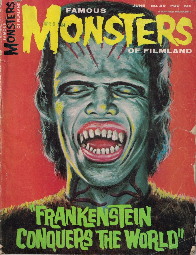 Cover of a vintage Famous Monsters of Filmland