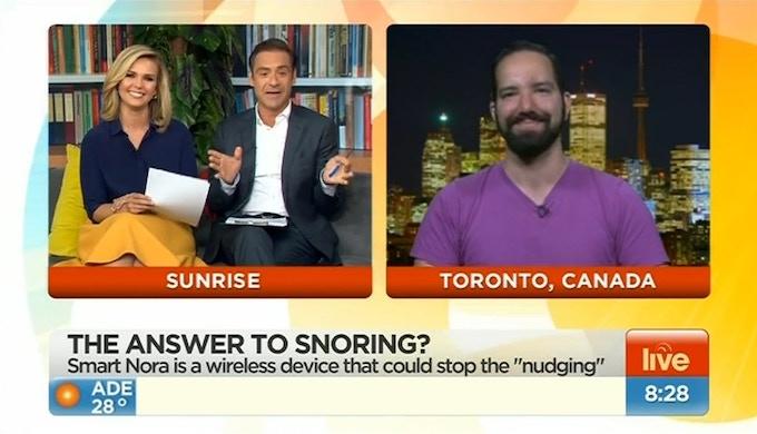 Watch Nora on Weekend Sunrise in Australia!
