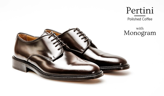 Derby Plain Pertini with Personal Monogram on the Heel