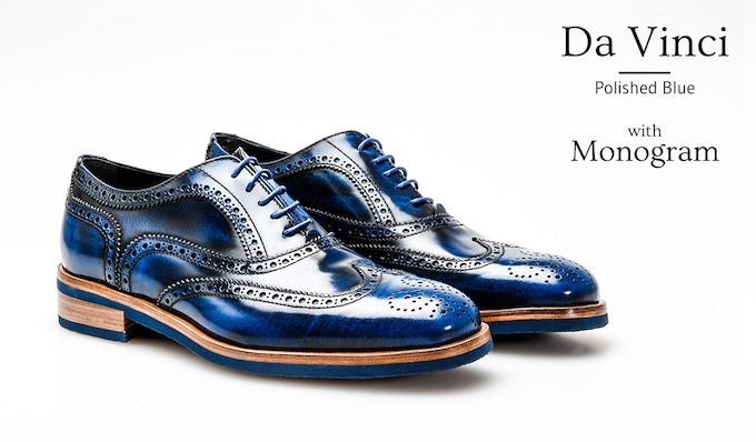 Oxford Wing Brogue Da Vinci with Personal Monogram on the Heel