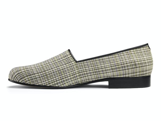 Pembroke - green pixel weave