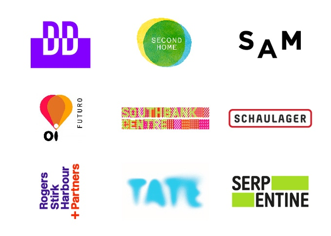 A selection of logos designed by Marina Willer