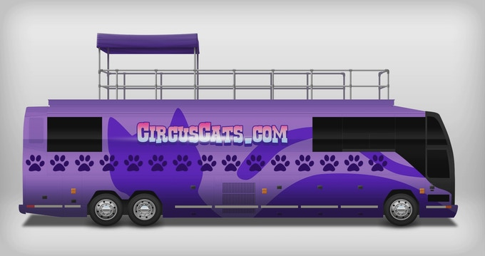 With some paint and a LOT of elbow-grease, anything is paw-sible with a solid used tour bus!