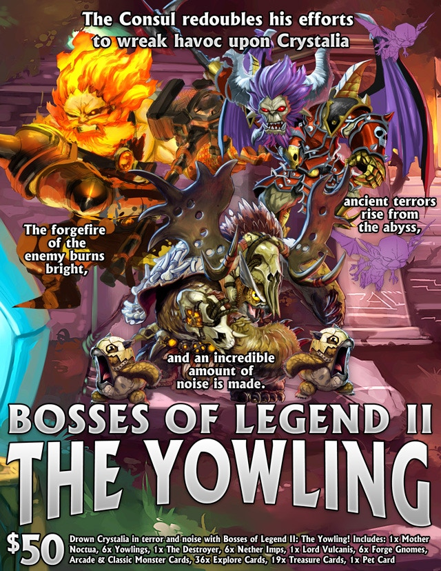 Please note that there was an error in a recent newsletter that listed this item as free. Bosses of Legend II is NOT free and is only available as a $50 optional purchase.