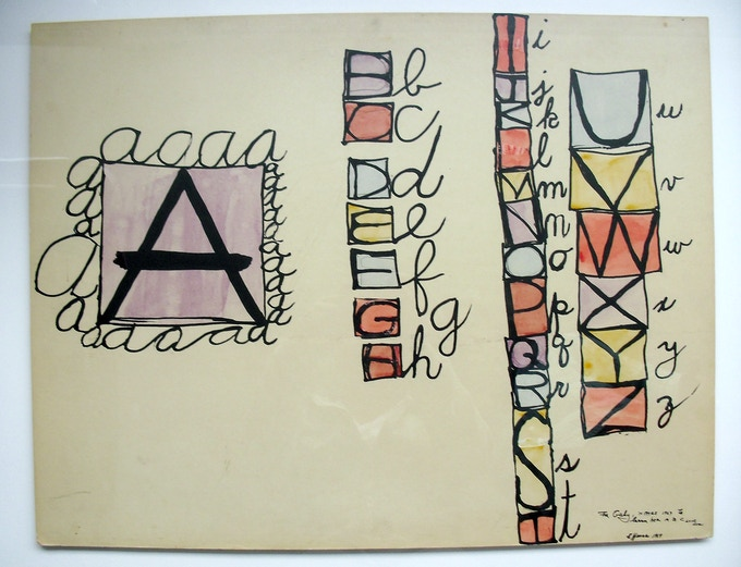 Drawing for Gabi Scheidt, 1964
