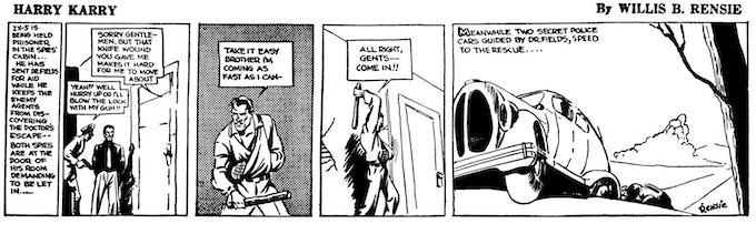 HARRY KARRY by Willis B. Rensie, a.k.a. Will Eisner.