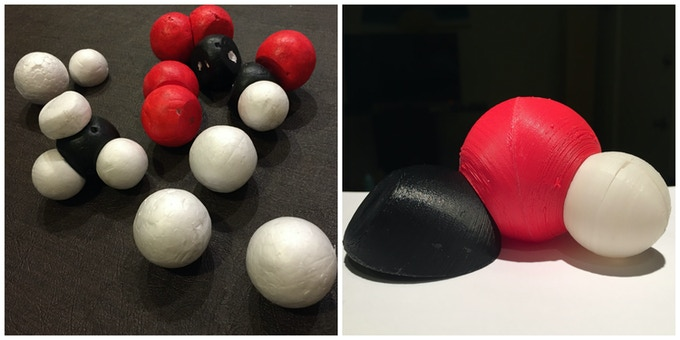 Snatoms: Foam and 3-D printed prototypes