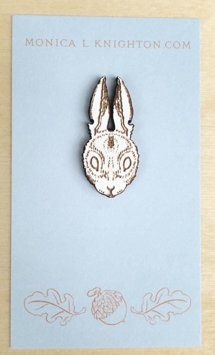 Ghost Cottontail lapel pin