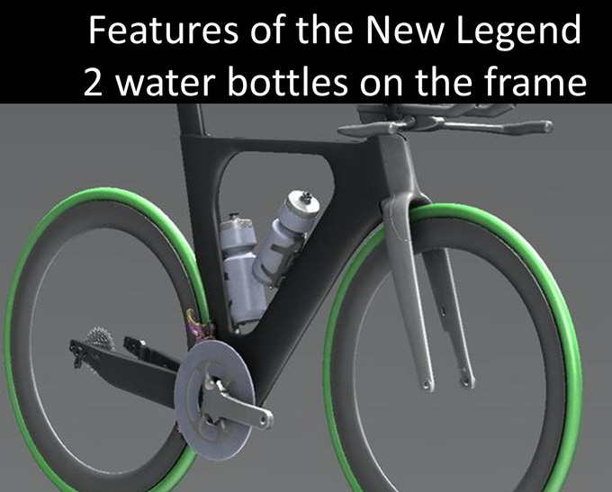 Hydration needs for racing and training were taken into design consideration