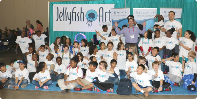 Teaching the next generation of jellyheads and conservationists a few days before the start of the Kickstarter campaign
