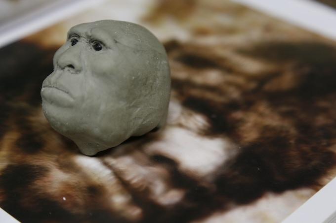 """Ken's preliminary """"sketch"""" of Patty's head"""